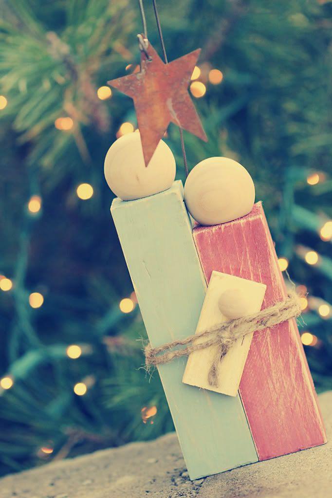 Rustic Nativity Ornament. SelbermachenSüße GeschenkideenNiedliche  GeschenkeGebastelte WeihnachtsdekorationUrlaub ...