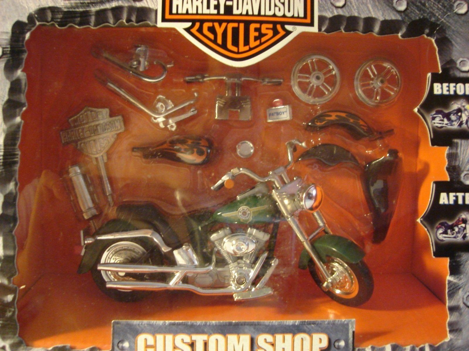 Harley Davidson 1 20 Die Cast Motorcycle Fatboy Custom Shop Ebay Harley Davidson Davidson Harley