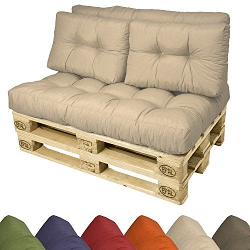 Beautissu 1 Seduta Cuscino Per Bancali Di Legno 120x80x15 Cm Comoda Seduta Per Divano Pancale Di Pallet Cushions Pallet Furniture Cushions Diy Pallet Sofa