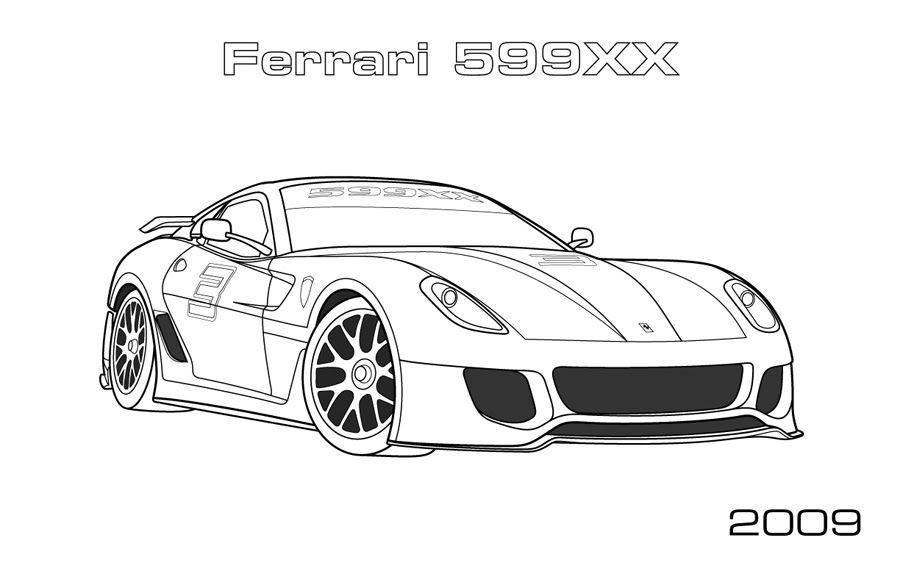 ferrari coloring pages 05