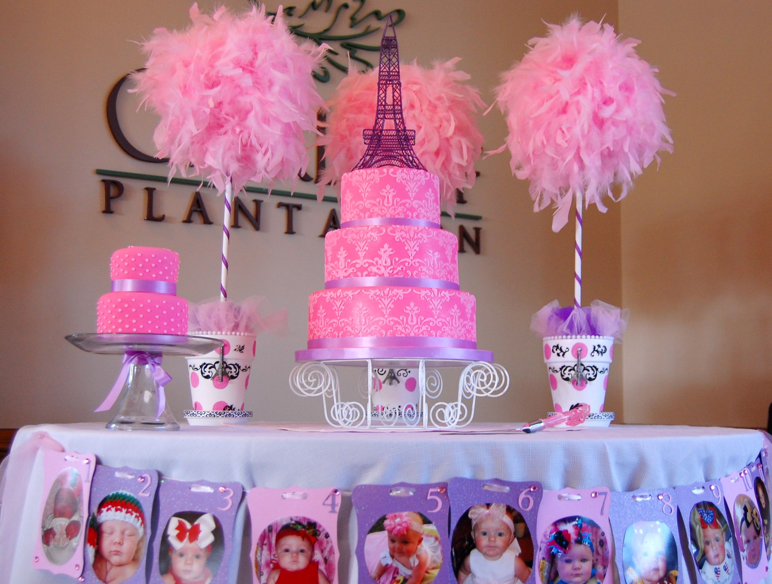 Paris themed 1st birthday by K Noelle Cakes