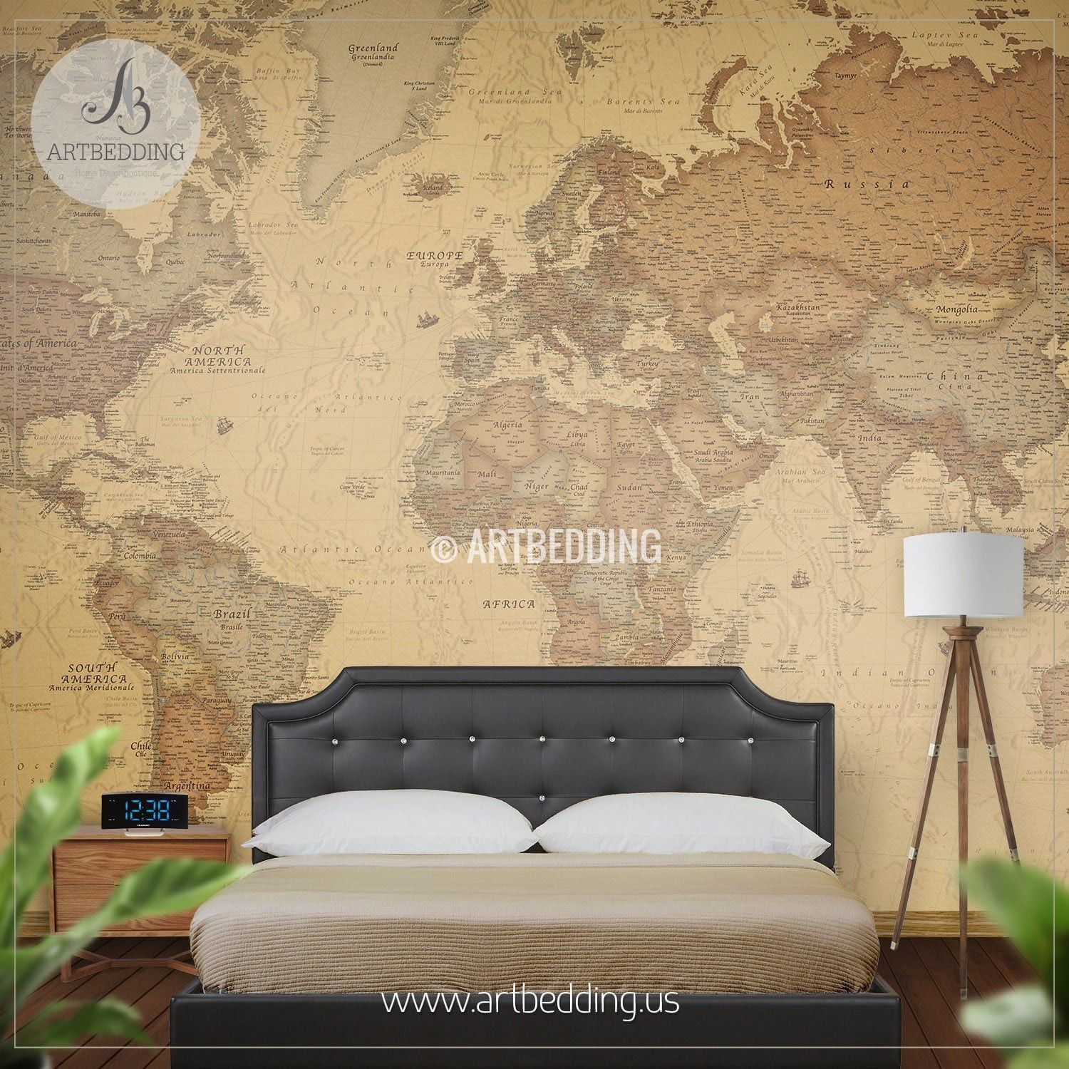 Ancient World Map Wall Mural, Self Adhesive Peel & Stick Photo Mural ...