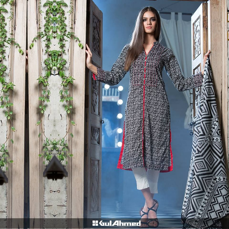 Gul ahmed winter dresses collection 2015 fashionip - Gul Ahmed Cambric Shirts Tights Are The Formal And Informal Dresses For Women That Are Launched Recently For The Winter Season Check The Complete Collection