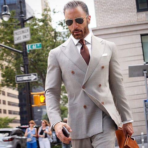 Trajes de hombre chaqueta cruzada