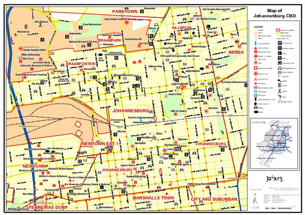 Johannesburg Map Swaziland Pinterest Tourist map Central