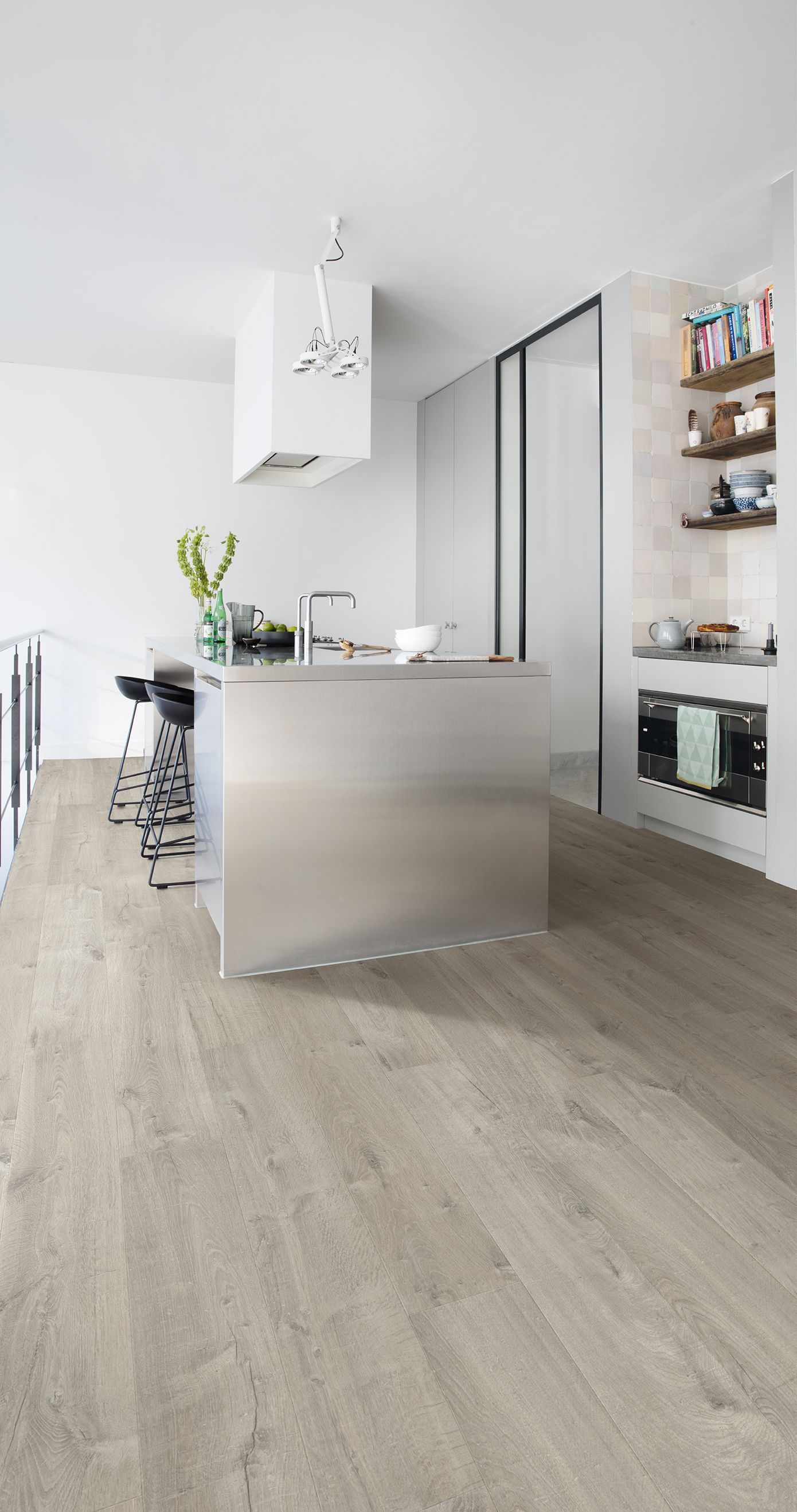 Merveilleux Quick Step Laminate Flooring   Impressive U0027Soft Oak Greyu0027 (IM3558) In A  Modern Kitchen. To Find More Kitchen Inspiration, Visit Our Website: ...