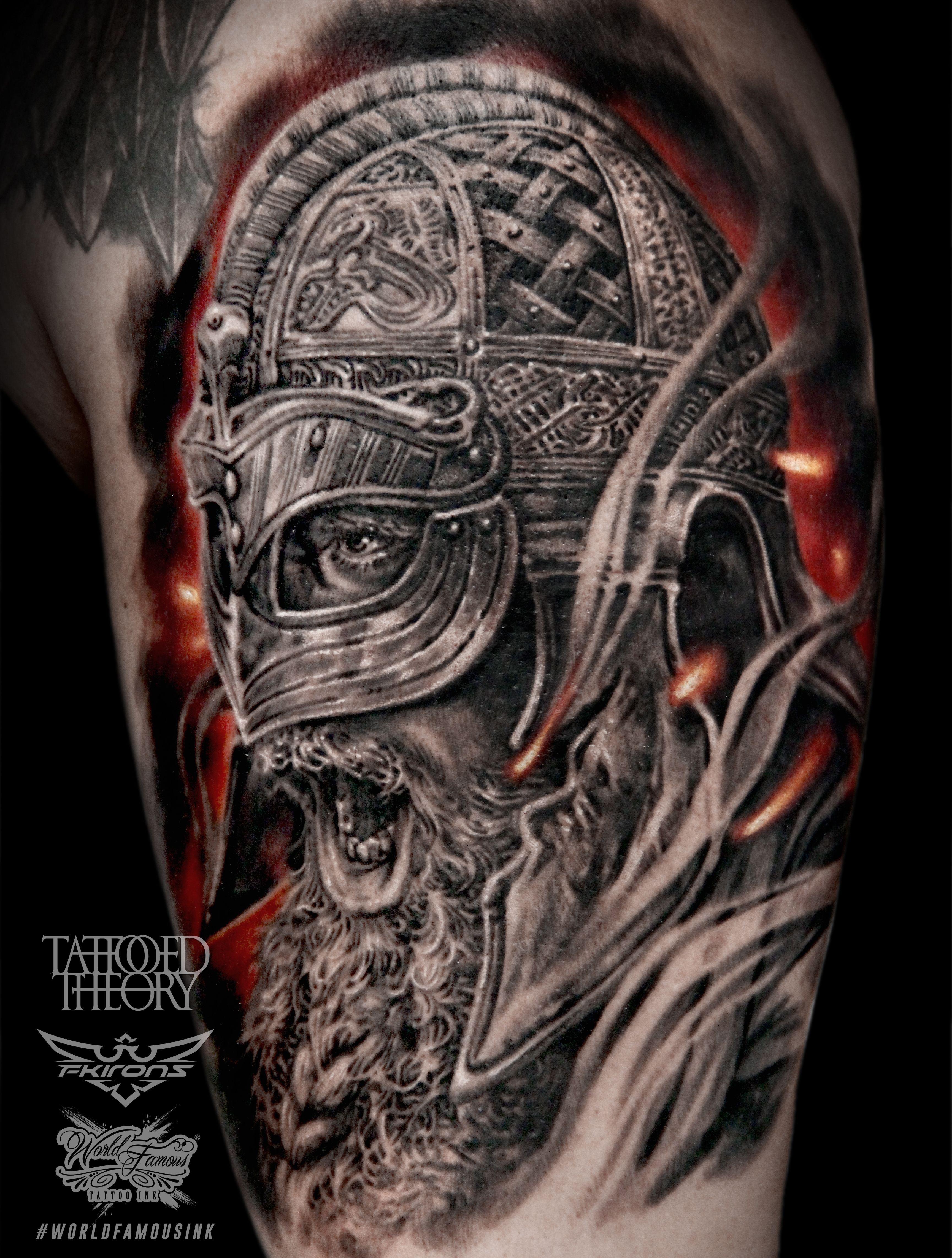 Viking Tattoo Done In 10 Hours By Javier Antunez Owner Artist At