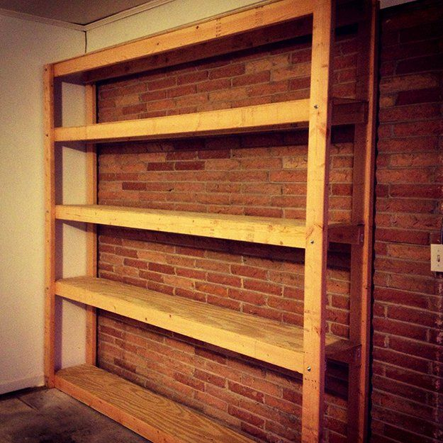 Beautiful Basement Storage Shelves Plans