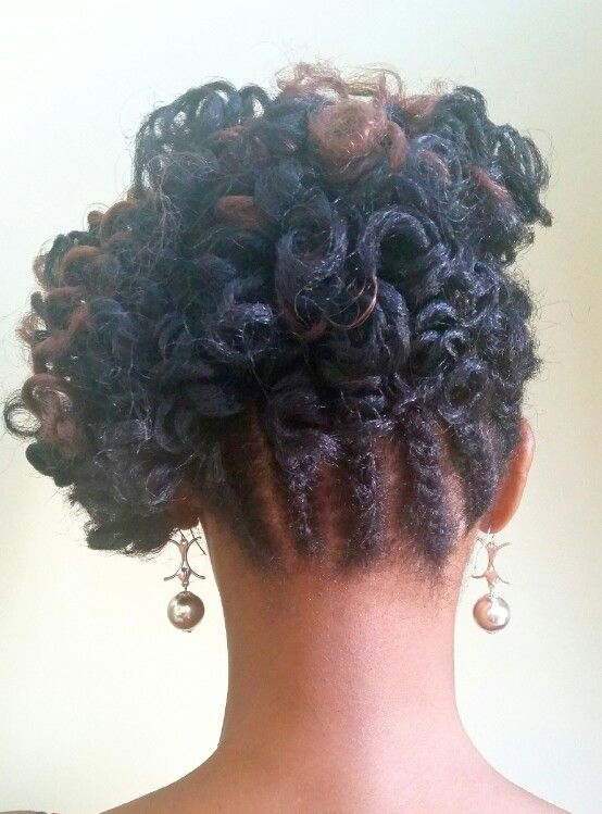 Crochet Hair Urban : Crochet Braid Updo featuring a Roller Set on Urban Soft Dread by ...