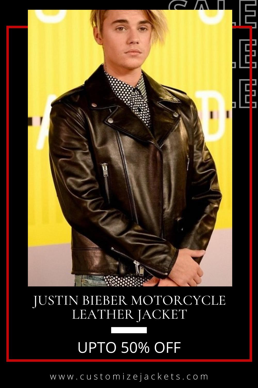 Justin Bieber Motorcycle Leather Jacket Leather Jacket Leather Motorcycle Jacket Celebrities Leather Jacket [ 1500 x 1000 Pixel ]