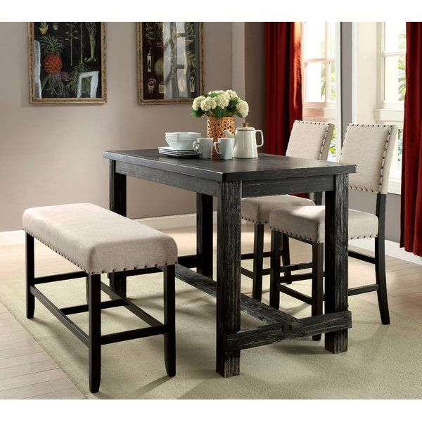 Attractive Counter Height Bistro Table With Dar Home Co Matthew Counter Height Pub Counter Height Dining Table Dining Table In Kitchen Counter Height Pub Table