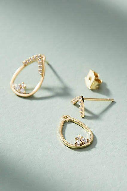 Anthropologie Alethea Front-Back Earrings b5nGXSRRs