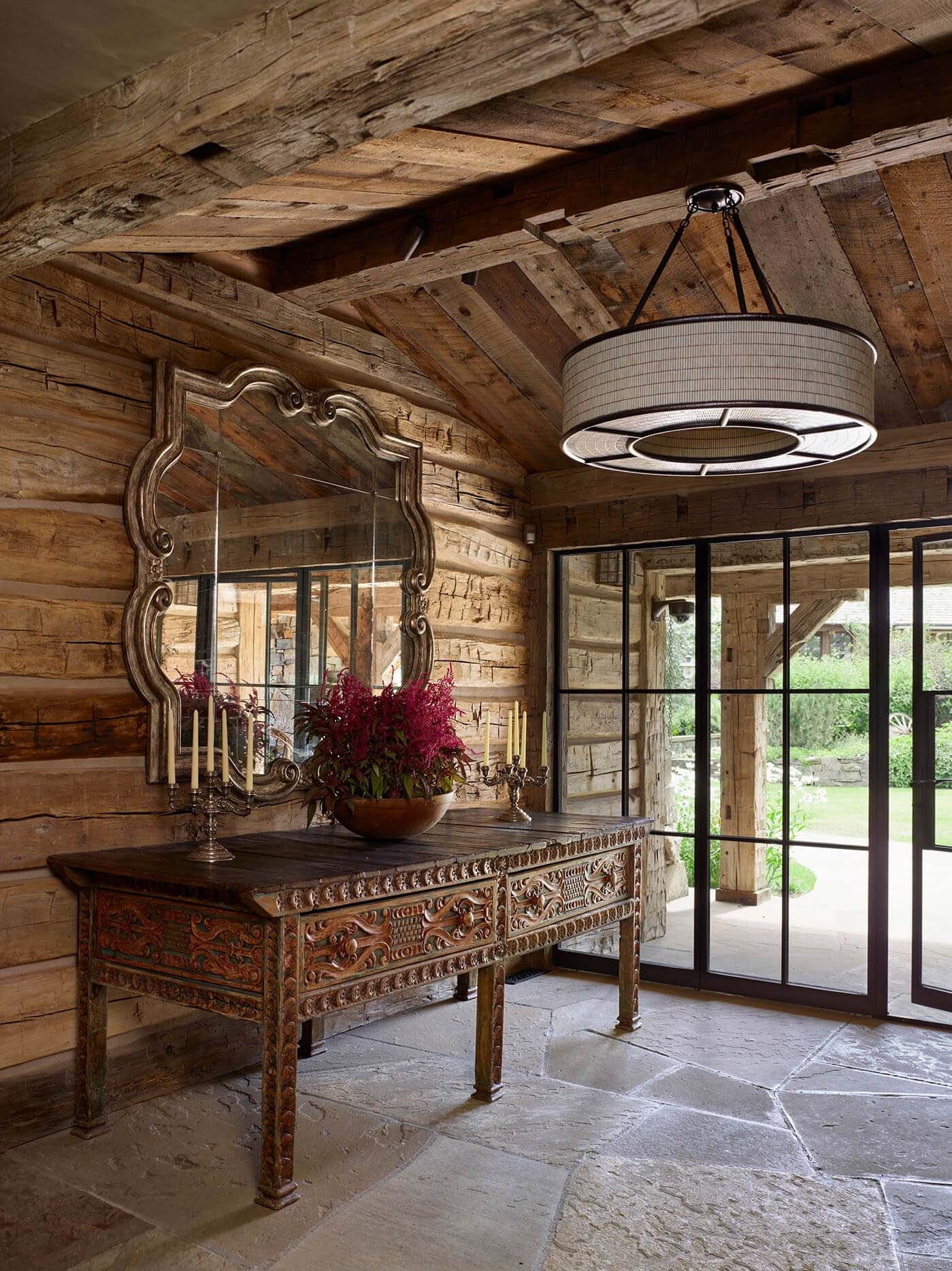 Breathtaking Rustic Ranch House Tucked Into The Beartooth Mountains Ranch House Ranch Decor Rustic Home Design