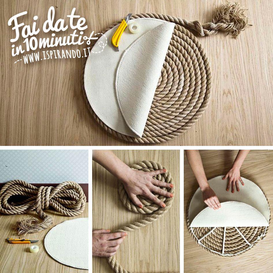 Un elegante tappeto di corda fai da te | Pinterest | Diy handbag ...