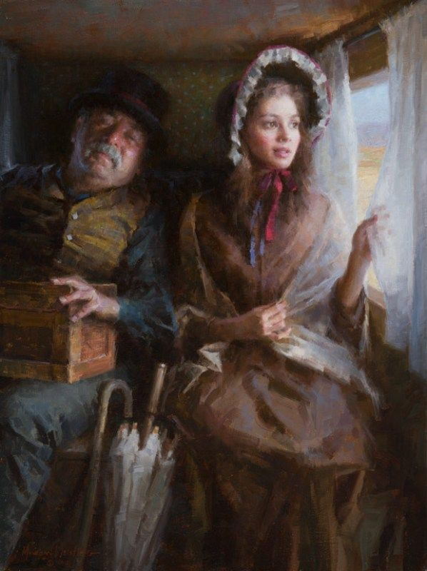 "Morgan Weistling - Fine Artist - ""Stagecoach"" 2012 Autry Museum, Master's of the American West Show"