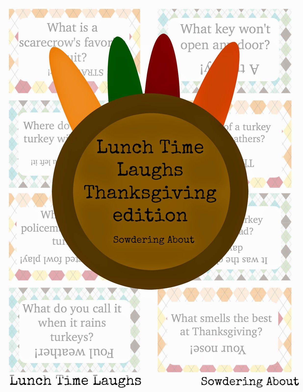 This Week's Menu Thanksgiving jokes for kids