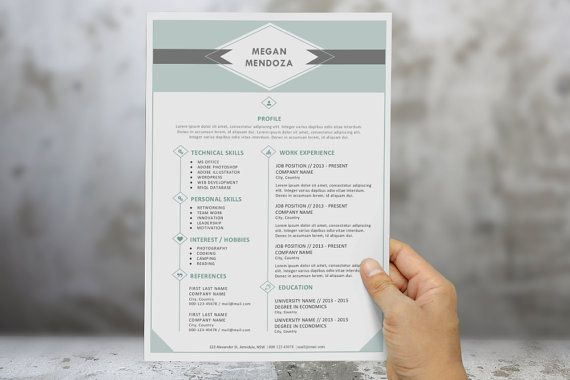 2 in 1 diamond resume template pack for MS Word (docx), cv - resume template docx