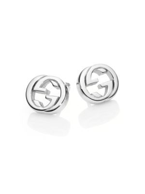 59b90235867 GUCCI Interlocking G Sterling Silver Stud Earrings.  gucci  earrings ...