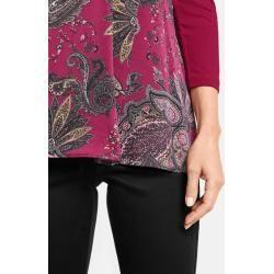 3/4 Arm Shirt mit hüftumspielender Länge Pink Gerry Weber
