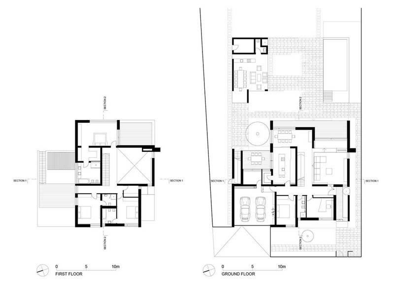 Amazing Modern C House By Parasite Studio Timisoara Romania Timisoara Modern House Design Romania Parasite house floor plan