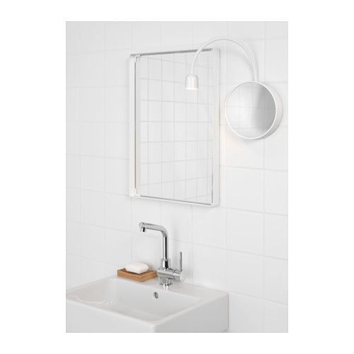 For Master Bathroom Mirror Make Up Has Suction Cup To Attach BlÅvik Led Wall Lamp With Ikea