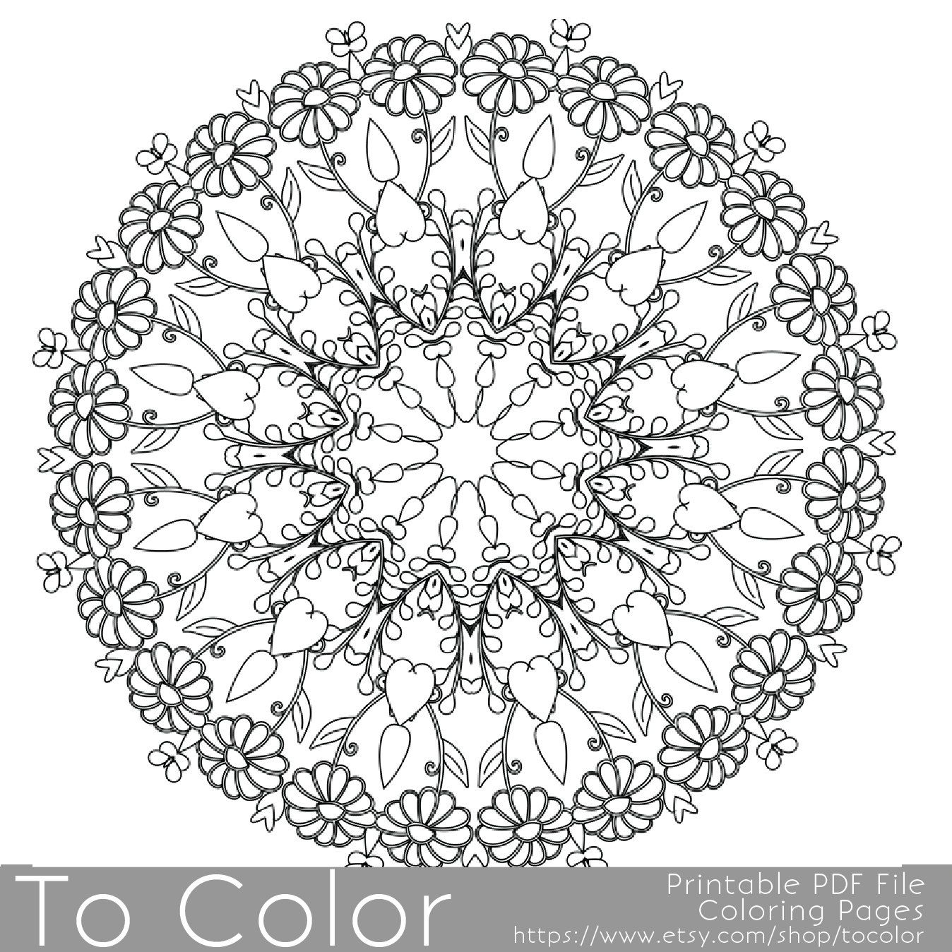 Intricate Printable Coloring Pages For Adults Gel Pens Mandala Pattern PDF JPG