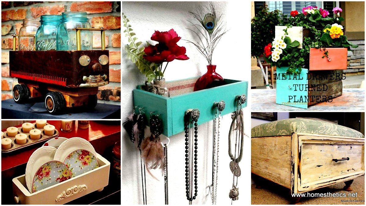 23 Creative Ways To Repurpose Reuse Old Stuff Old Drawers Diy Furniture Cheap Diy Furniture Projects