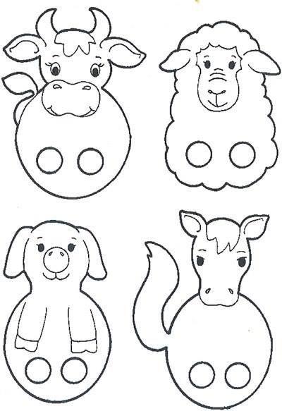8 Moldes para hacer hermosos títeres de papel con niños | corazon ...