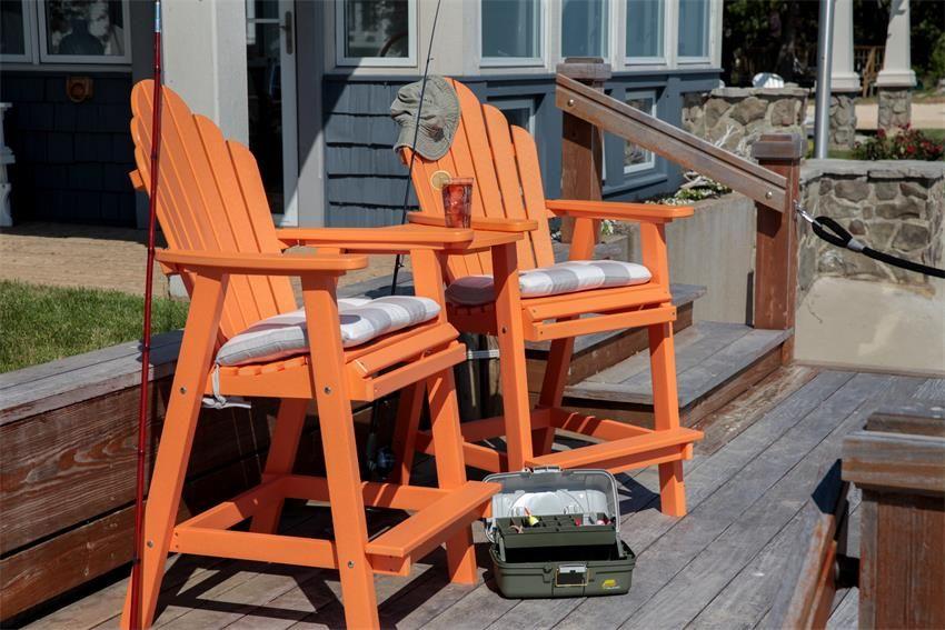 Amish Made Polywood Cozi Back Bar Chair Tete A Set
