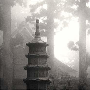 Image result for Japanese temple in mist