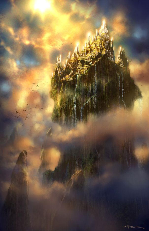 What I pictured the fairy city from The Two Princesses of Bamarre to look like.
