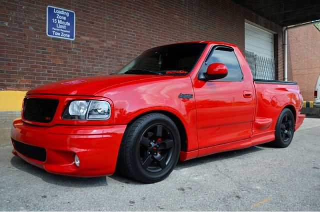 Ford Lightning 2003 F150 Red Ford Lightning Custom Pickup Trucks Dropped Trucks