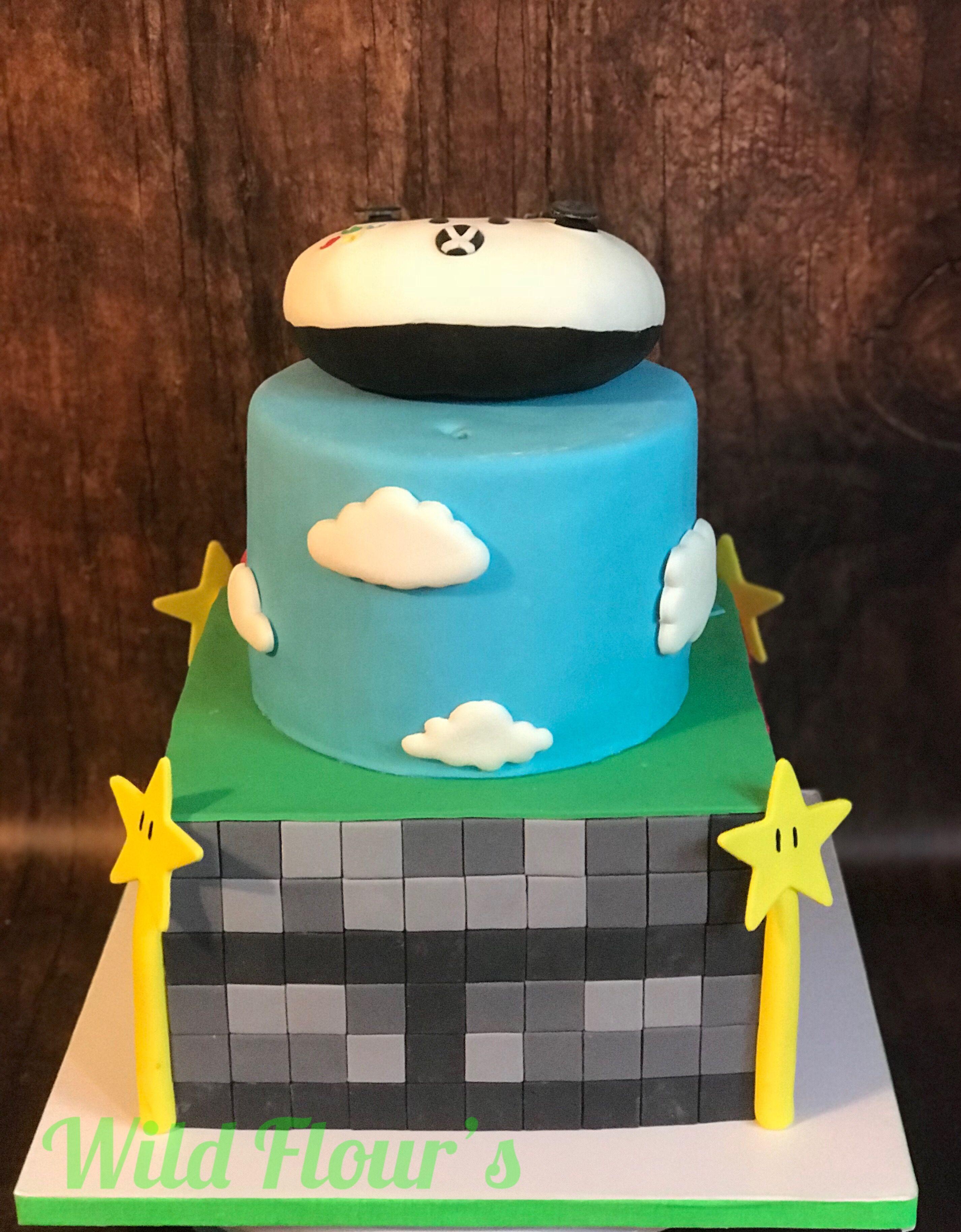 Minecraft, Super Mario Gaming cake. Rice Krispie Treat