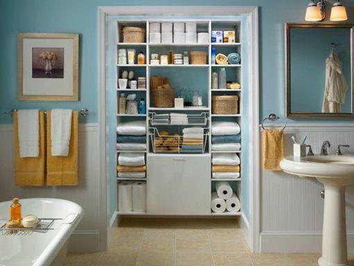 Armarios y sistemas de almacenaje en el cuarto de baño ...