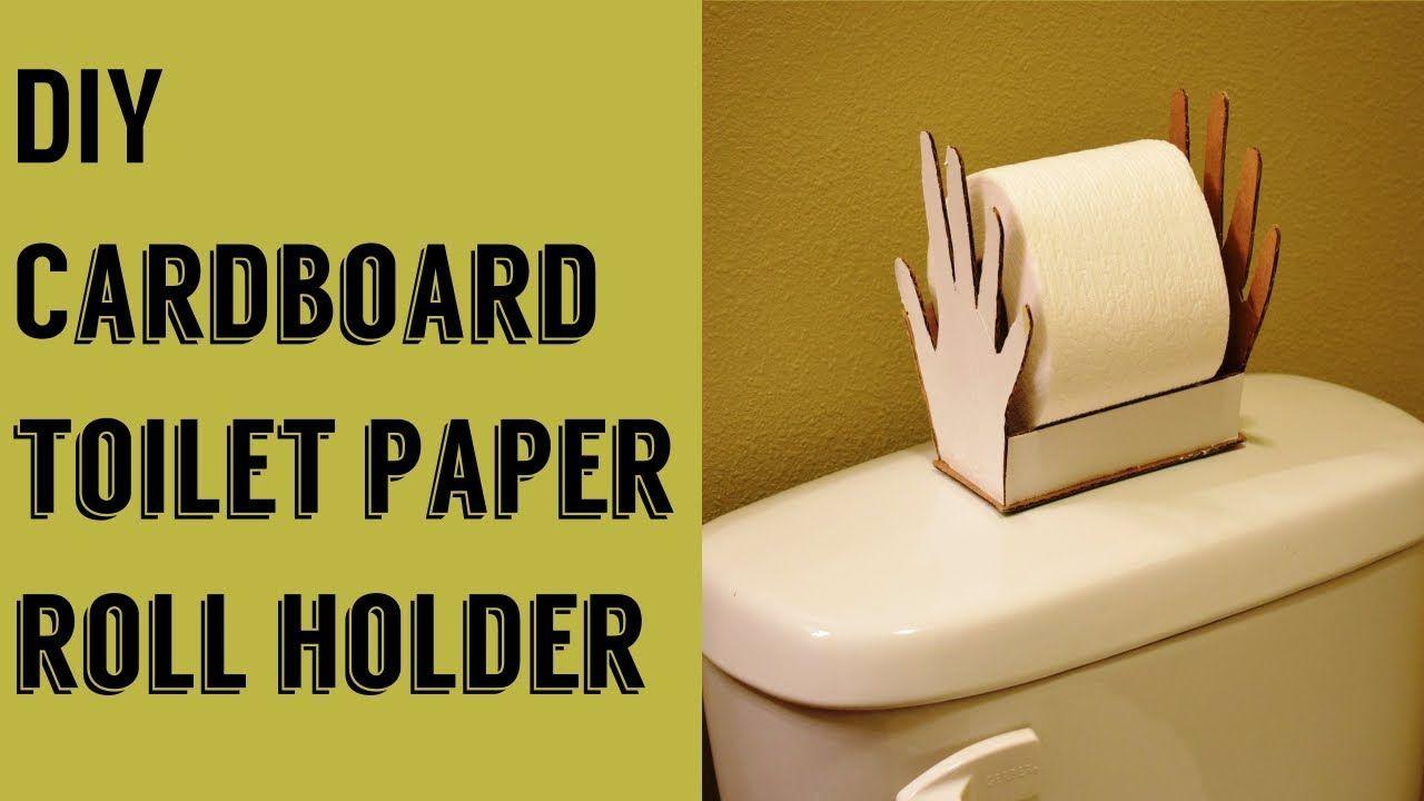 DIY: How to make Bathroom Toilet paper roll holder using cardboard ...