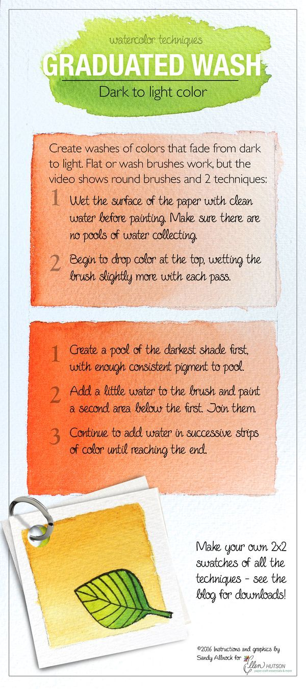 Watercolor Tips Graduated Wash Watercolor Art Watercolor Tips
