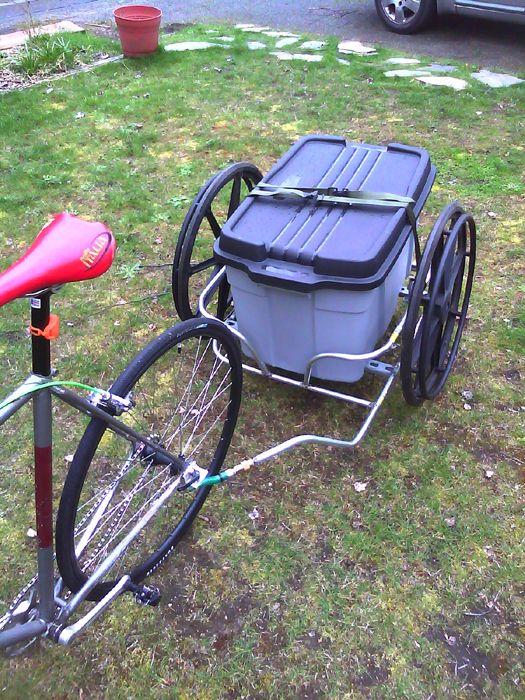 Wheel Chair Repurposed Into Bike Trailer Bike Trailer Bicycle Trailer Bike
