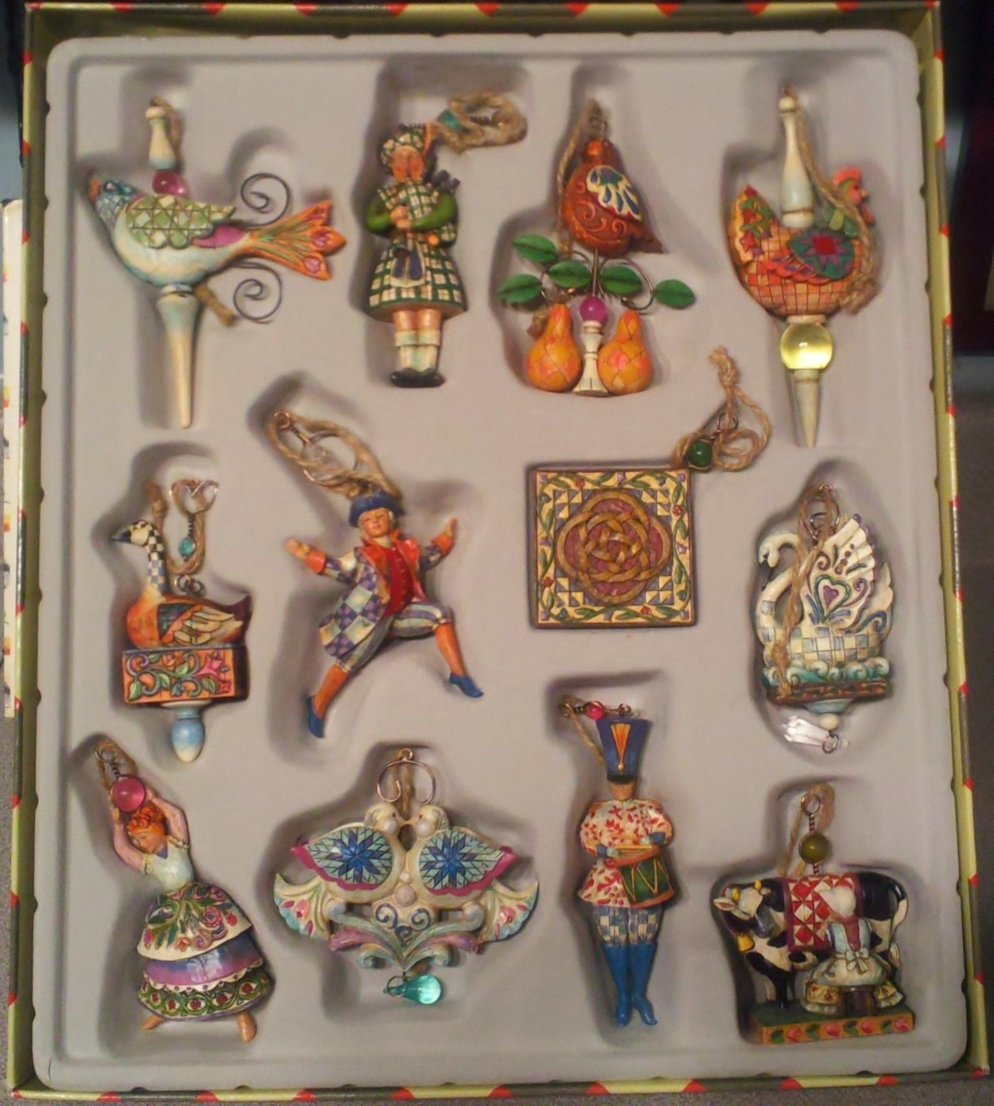 jim shore twelve days of christmas ornaments set of 12 retired ebay