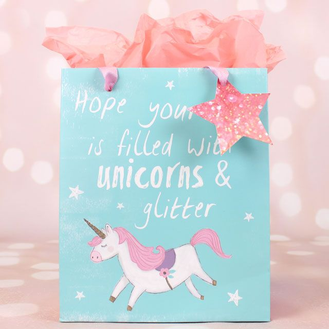 Unicorn Gift Bag, I Hope Your Day Is Filled With Unicorns and ...