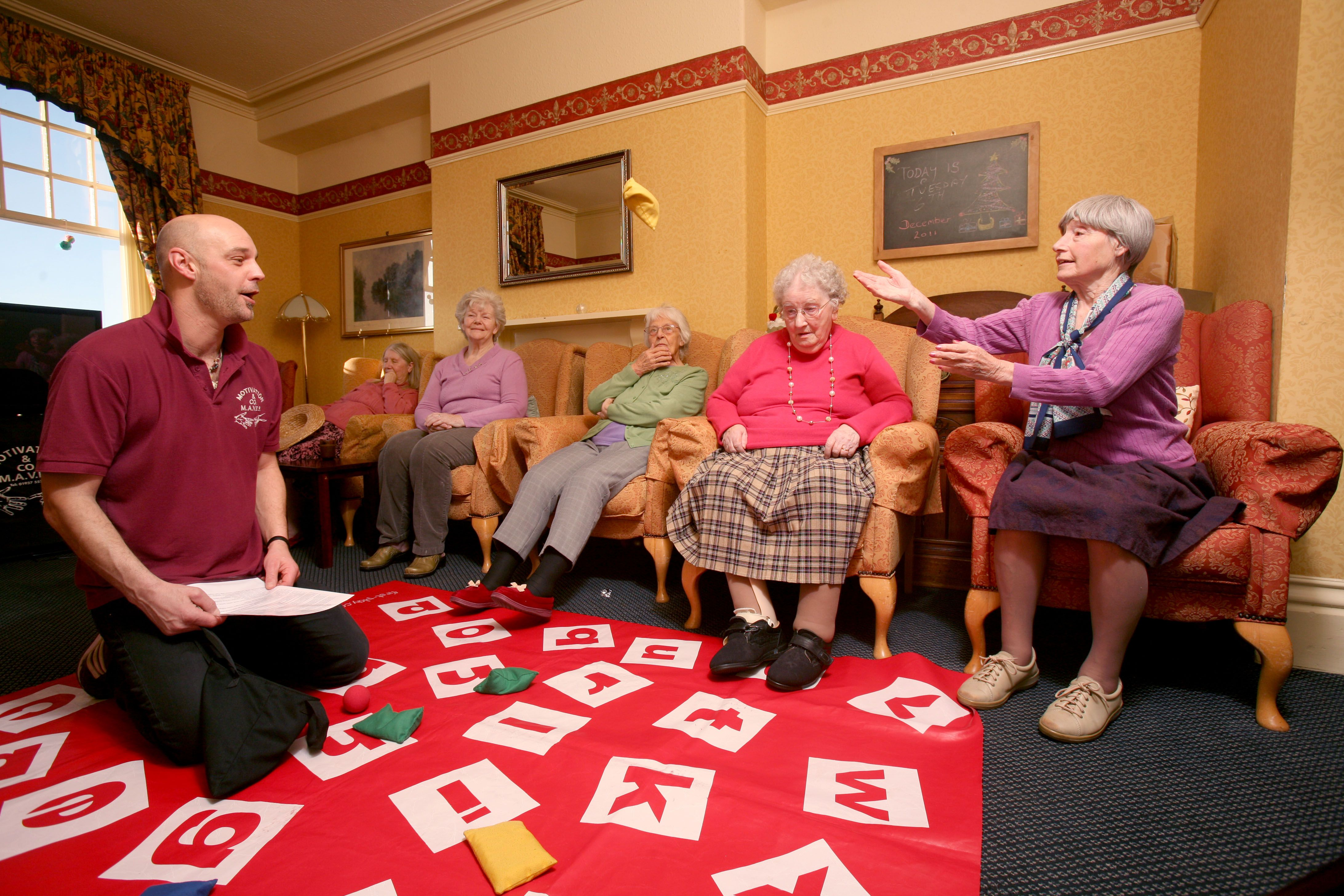 Peregrine house care home organises group activities for