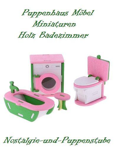 Monika Leonhardt // Puppenhaus MiniaturenBadezimmer