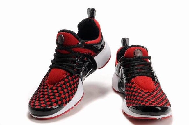 Nike Air Presto Weave Herren Sneakers Schwarz Weiss Rot Botas