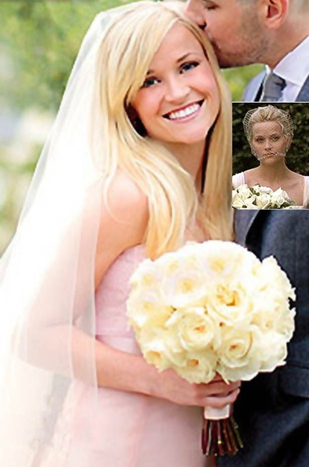 Reese Witherspoon Pink Wedding Dress