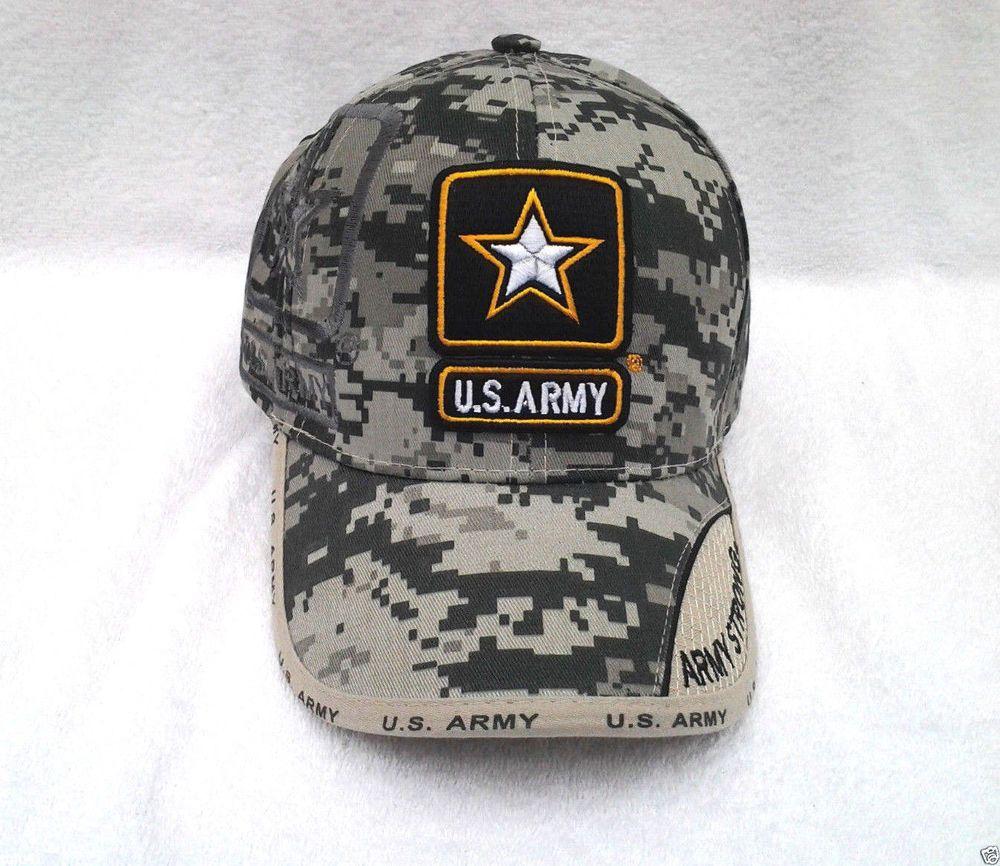 25e0a4d2952 UNITED STATES ARMY STAR LOGO DIGITAL WEB CAMO Military Veteran Hat 343 KA  MT  BaseballCap