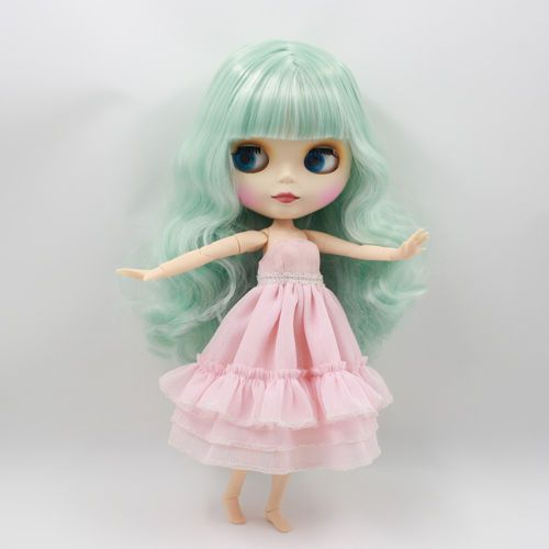 """12/"""" Neo Blythe Doll From Factory Jointed Body Pink Hair Matte Face With Make-up"""