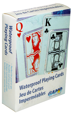 Introducing the GAME Waterproof Playing Cards that are the BEST waterproof cards in the market as they are loved by all card playing users of ALL ages. Perfect fun in the sun by the pool, in the spa or on the beach. The best pool toy accessory for worry free fun. Can be played and shuffled in water without damage. Buy a deck today and try them for yourself, you wont be disappointed.