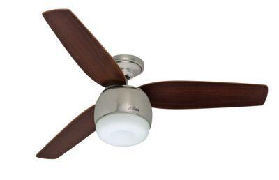 Hunter Fan Infiniti Brushed Nickel Led 28671 Ceiling Fan Best Ceiling Fans Ceiling Fan With Light