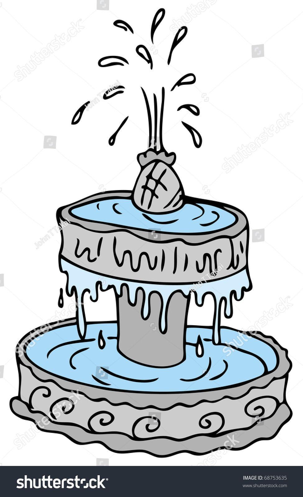 An Image Of A Cartoon Water Fountain Ad Sponsored Cartoon Image Fountain Water In 2021 Water Fountain Cartoon Fountain