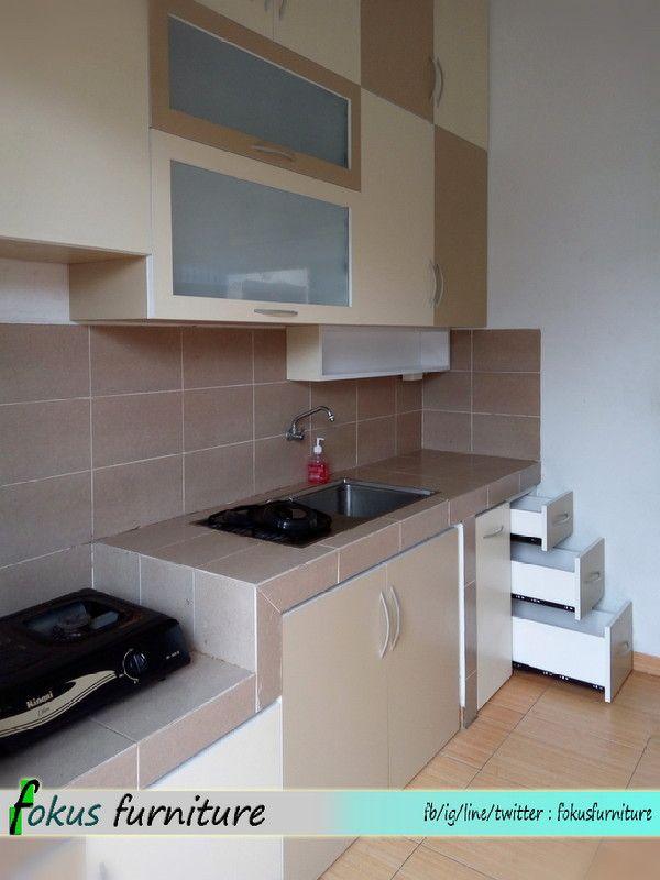 Kitchen Set Full Plafon Di Ciracas Penataan Dapur Ide Dapur Kabinet Dapur