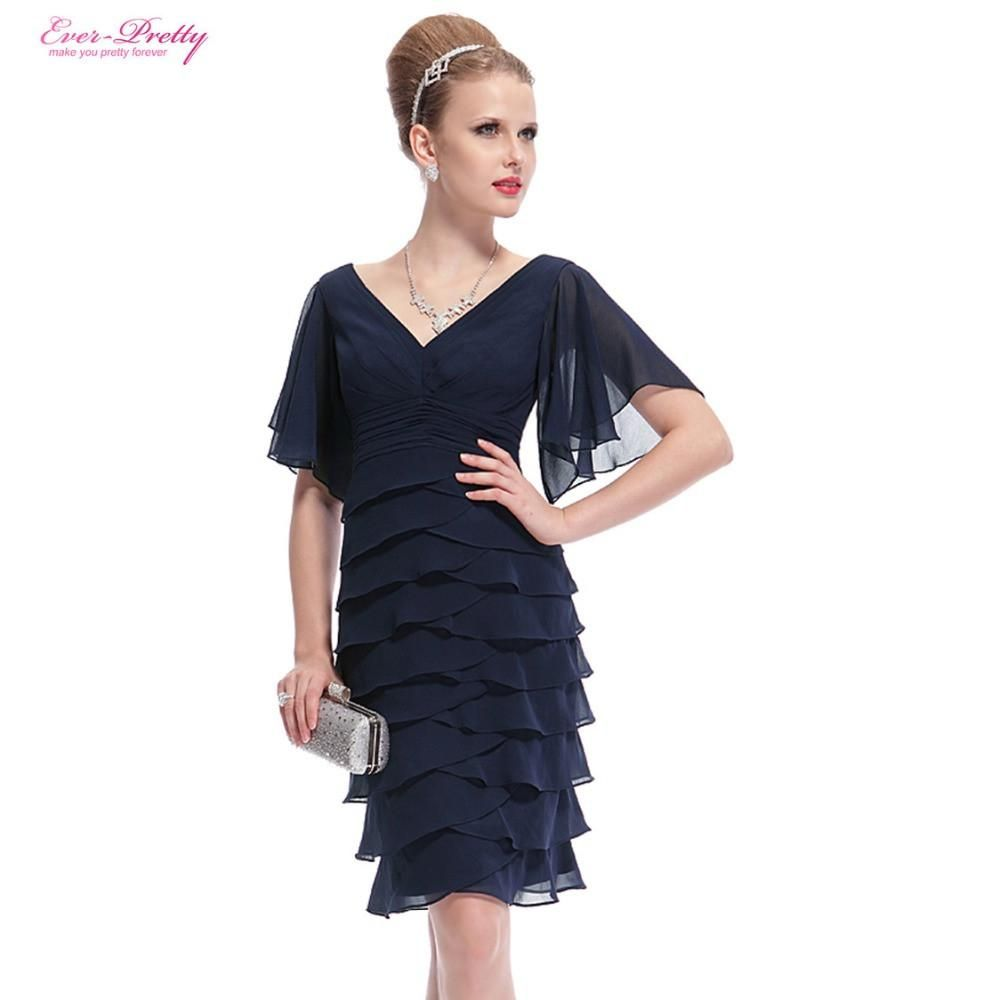 Blue short cocktail dresses ever pretty double vneck butterfly